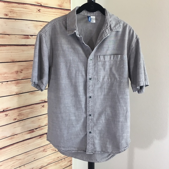 5c474bf8 Divided Shirts | Mens By Hm Light Gray Buttoned Down Shirt | Poshmark